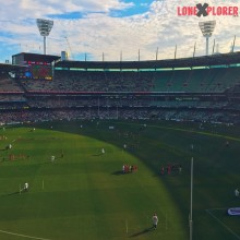 Half time at the MCG AFLPIESVSGIANTS and the Pies leadhellip