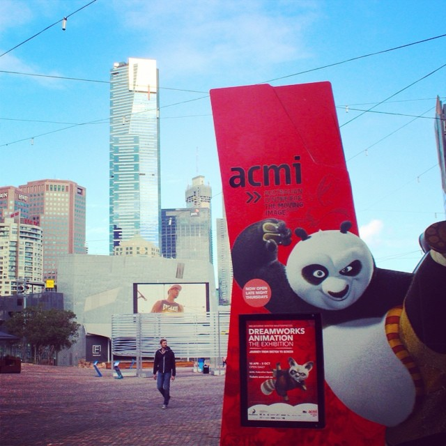 It's the Kung Fu Panda... #federationsquare #fedsquare #melbourne #dreamworks