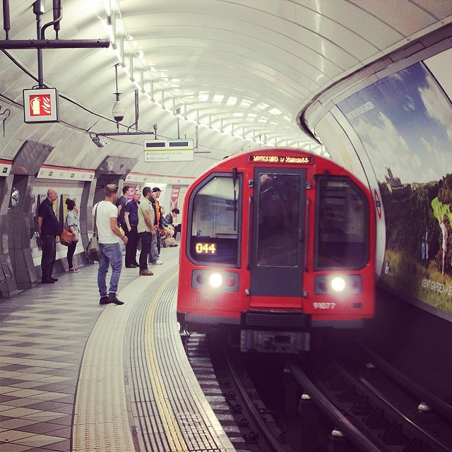 This is a Piccadilly line service to Cockfosters... #london #tube #train #uk #England