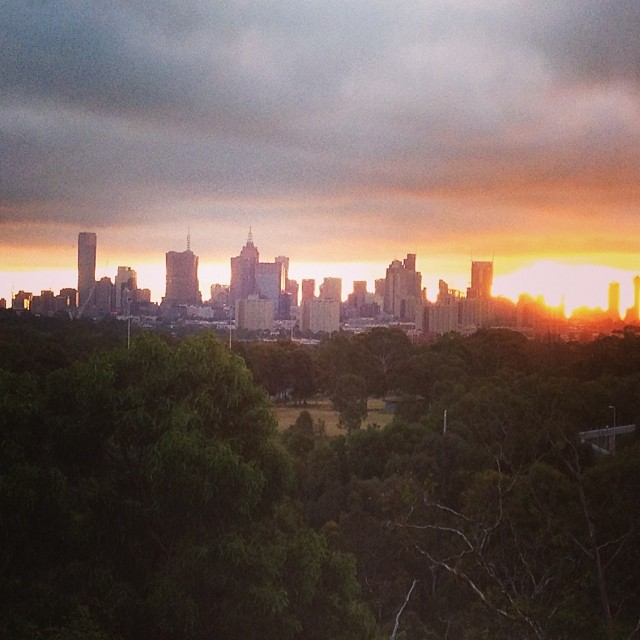 #melbourne #sunset