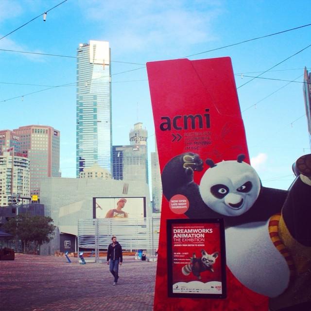 It's the Kung Fu Panda... #federationsquare #fedsquare #melbourne #dreamworks