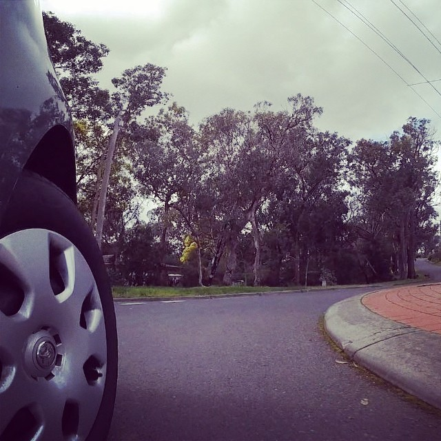 Laps around the round-a-bout, testing out my new #gopro before I go on my Tassie trip