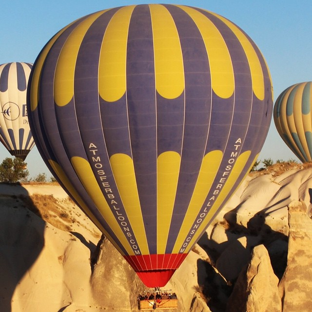 One of the best experiences in #Turkey flying over #Cappadocia at dawn in a hot air balloon.