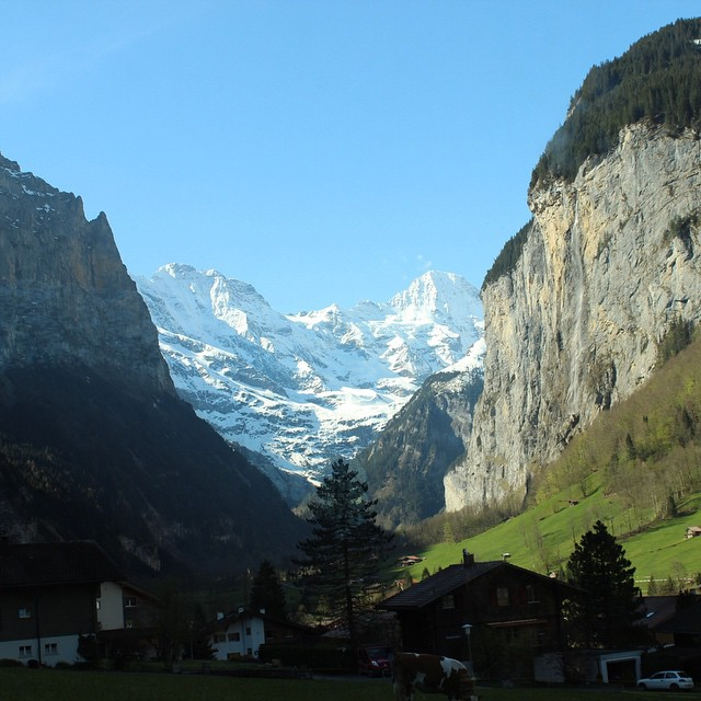 One of the most beautiful towns in the world, can't wait to return to #Lauterbrunnen in#Switzerland next year, also for the trip up to #Jungfrau