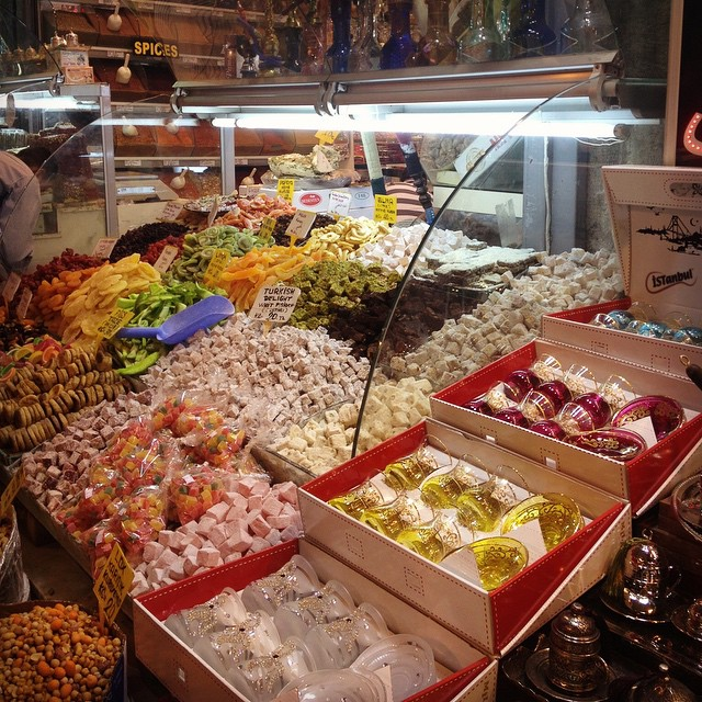 #TurkishDelight at the #SpiceBazaar of #Istanbul in #Turkey. My favourite city in the world so far!
