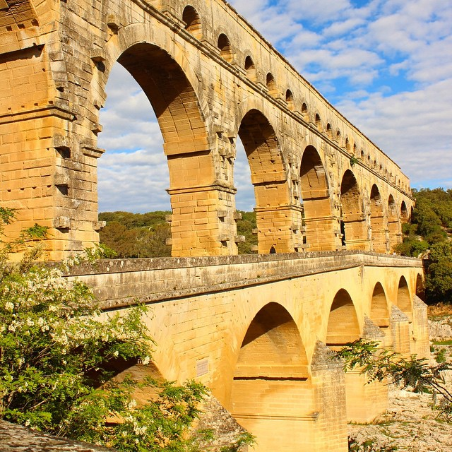 #PontDuGard in the south of #France close to #Avignon is an impressive aqueduct remnant of the #RomanEmpire. This #UNESCO World Heritage site is worth a visit on any trip to France.